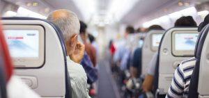 Waering Fliaght Socks In Airplane